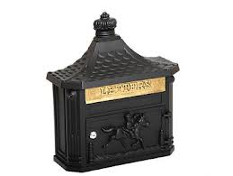 Post Box Wall Mounted Black